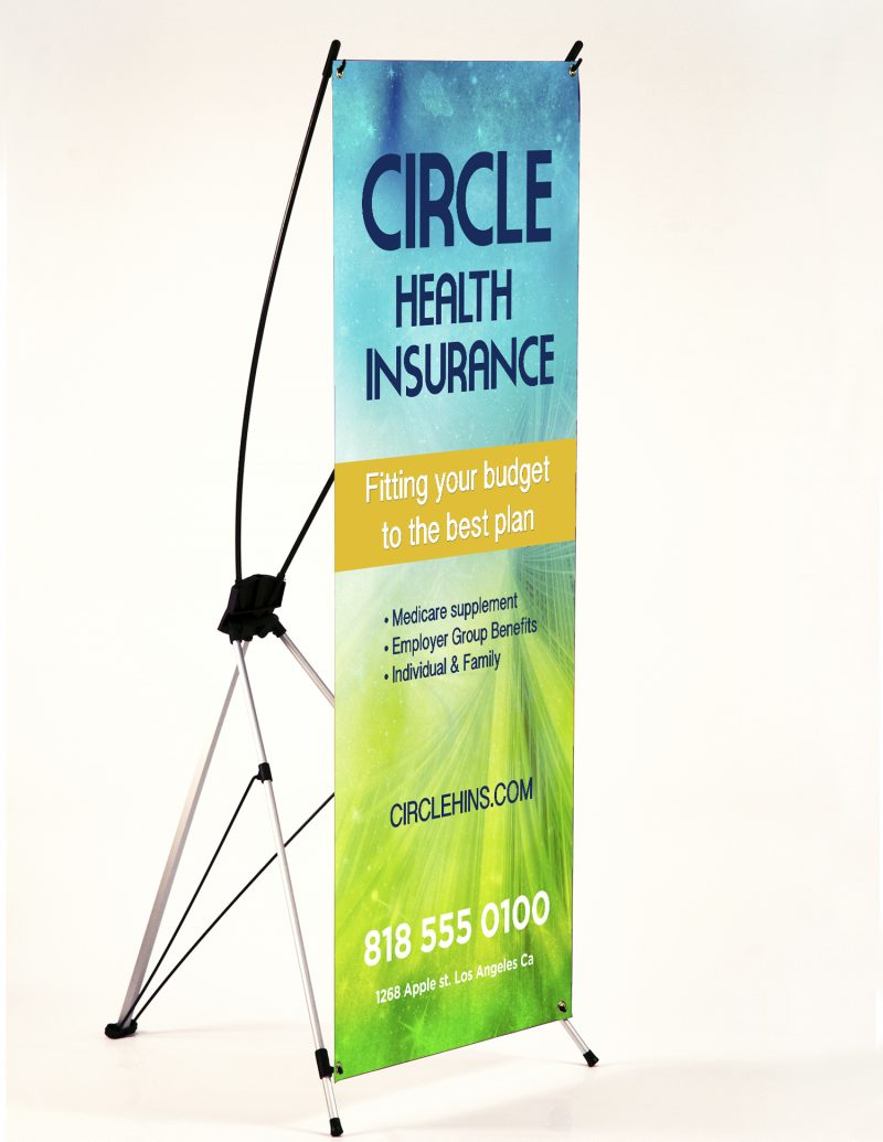X Frame Banner Stand Critical Designs Printing